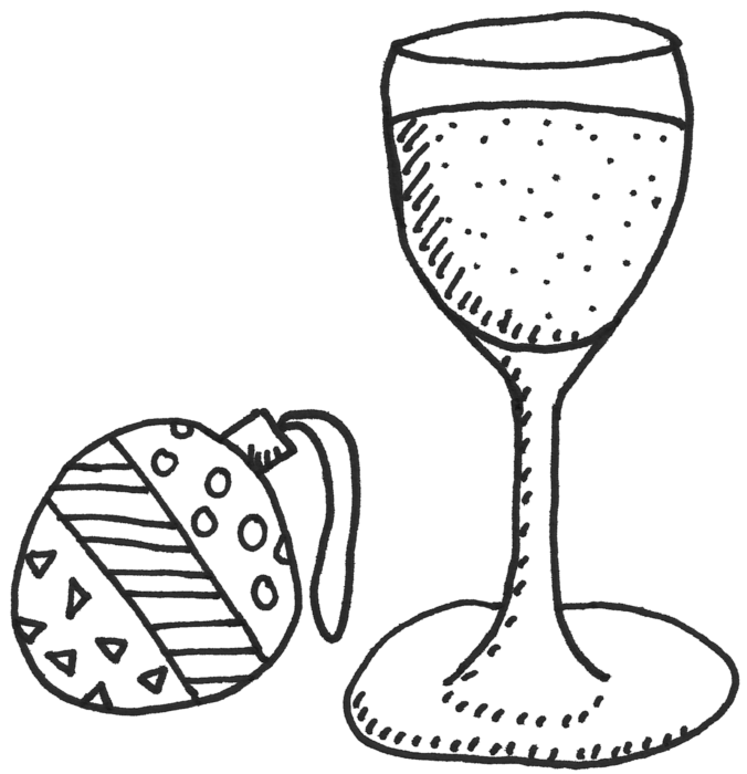 Christmas drinks sketch